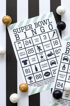Super Bowl Bingo Free Printable #HomeBowlHeroContest