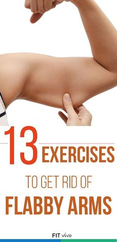 Arm Workout For Women: 13 Exercises to Get Rid of Flabby Arms - Fitness Nutrition Fat Loss and Fitness Workouts, Fitness Motivation, At Home Workouts, Workout Exercises, Arm Exercises Women, Arm Flab Workout, Underarm Workout, Cardio Gym, Ab Workouts