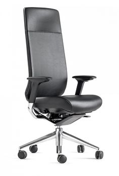 TNK 20 office chair is a high back model with an integrated headrest that is designed for executive environments. It's also perfect for personal offices.  #office #chairs #furniture Ergonomic Kneeling Chair, Ergonomic Chair, Upholstered Chairs, Office Chairs, Furniture, Design, Home Decor, Offices, Homemade Home Decor