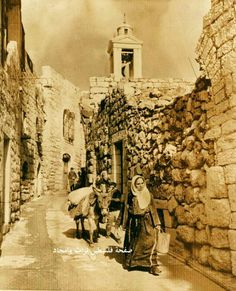 Biet Lahem 1920-1930 Palestine Palestine History, Israel Palestine, Old Pictures, Old Photos, Vintage Photos, Terra Santa, Naher Osten, Holy Land, Historical Pictures