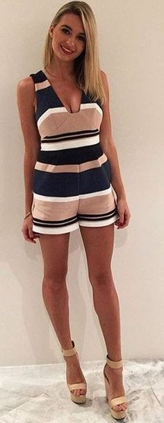 Bold Stripe Playsuit                                                                             Source