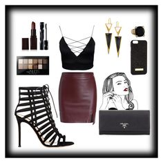 """Queen"" by victoria-freitas-tomlinson ❤ liked on Polyvore featuring Prada, Gianvito Rossi, Laura Mercier, Shiseido, Maybelline, Lana, Judith Ripka, women's clothing, women's fashion and women"