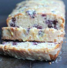 Blueberry Lemon Sour Cream Quick Bread | My Honeys Place
