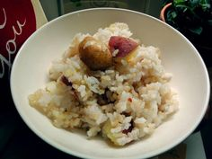 Rice with potato & sweet potato by HoniBee.