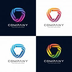 Triangle logo design for your company.