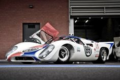 This is one Heck of a race car and,  it is absolutely, masculinity beautiful.  Lola T70 Mk3B