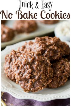 No Bake Cookies via @sugarspunrun