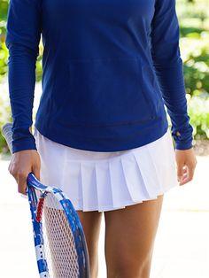 JoFit Dash Tennis Skort in White at #Golf4Her.com