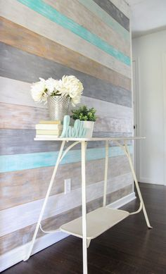 House How to Make a Stunning DIY Plank Wall - Lovely Etc. How to Budget for Home Improvements Home i Furniture, Home Projects, Home Remodeling, Diy Home Decor, Home Decor, Rustic Home Decor, Interior Design, Rustic House, Diy Plank Wall