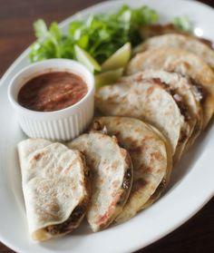 crunchy black bean tacos | www.prettyplainjanes.com