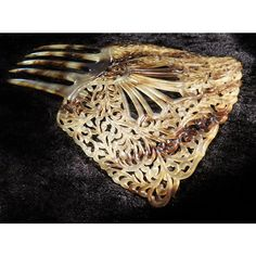 Antique Celluloid Hair Comb Faux Tortoise Peineta Spanish Mantilla Art Nouveau Deco Circa 1900s Victorian Hair Headdress Accessory Ornament ($99) found on Polyvore featuring women's fashion, accessories and hair accessories