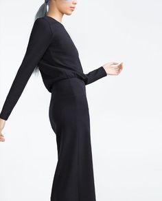 Image 3 de ROBE MI-LONGUE FENDUE de Zara