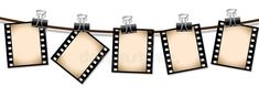 Row Of Sepia Film Strips Stock Illustration Kino Box, Red Carpet Party, Hollywood Theme, Draw On Photos, Movie Themes, Film Strip, Planner, Punch Art, Paper Piecing