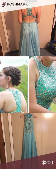 Prom Dress it's baby blue, and is in perfect condition. it has only been worn once. Dresses Prom