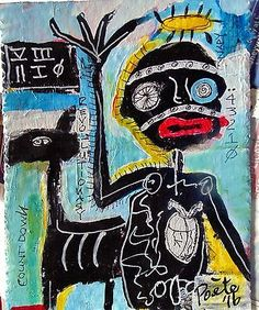 POETE MAUDIT, Street Art, Outsider, Painting, Naive, REVOLUTIONARY COUNT DOWN