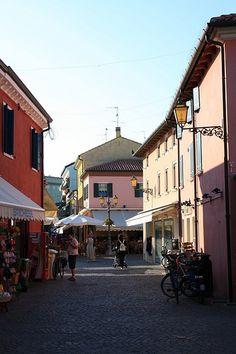 Una vista del centro storico della città