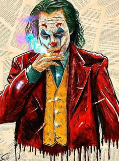 The joker painting, at book papers- cm. Batman Joker Wallpaper, Joker Wallpapers, Marvel Wallpaper, Badass Drawings, Joker Drawings, Joker Pics, Joker Art, Joker Batman, Comic Book Artists