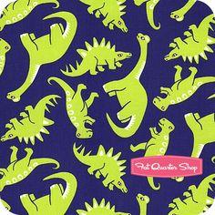 perhaps a dinosaur room?  curtain fabric