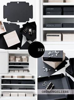 #Organizing DIY-IDEE Schachteln aus Fotokarton