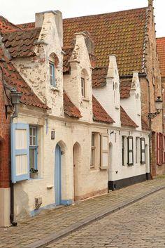 Bruges Belgium. Walking the side streets.