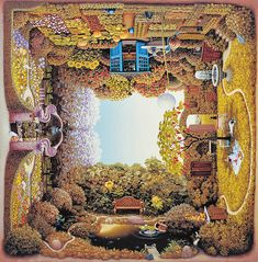 Polish artist Jacek Yerka is known for his surreal paintings of dreamlike realms. In his spectacular body of work, Yerka's 4siders series is one of the most puzzling to behold, as each image depicts four different scenes. No matter which way the painting is turned, a new scene unfolds. As a result, the simple act of viewing each piece becomes a dizzying, complex exploration of rotating perspectives. Influenced by master Flemish painters of the 15th and 16th centuries like Hieronymus Bosch…