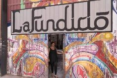 Kunstateliers La Fundicio in einer ehemaligen Gießerei in Barcelona Poble Nou, Foto: Robert B. Fishman, 4.10.2014