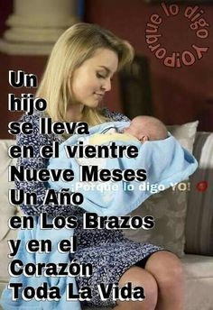 """""""You carry a child 9 months in your wound, a year in your arms, and in your heart all your life"""" Badass Quotes, Strong Women, Laughter, Parenting, Edd, Feelings, My Love, Memes, Ecuador"""