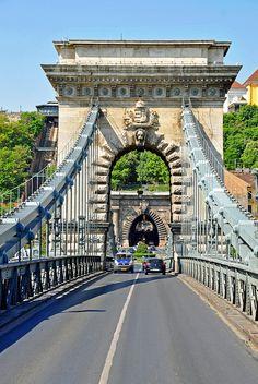 Crossing Chain Bridge ~ Gallert, Budapest - Hungary
