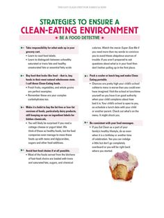 Clean eating environment