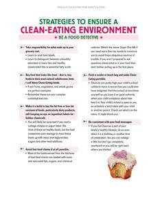 Clean eating environment