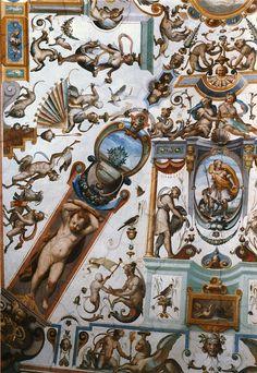 , uffizi. florence.....grotescos ....inspirados en lo encontrado en la Domus Aurea ....o Casa Dorada del Emperador Neron en Roma ---