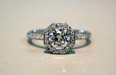 So pretty!! vintage engagement ring