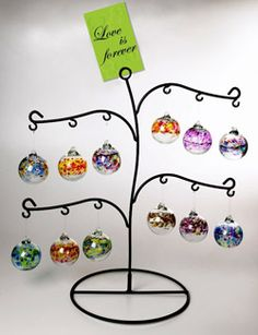 Love is Forever - Remembrance Ornament Tree. Remembrance Ornaments available through Compassionate Friends.