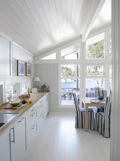 Beach House, Cottage, Cabin, Bedroom, House Styles, Kitchen, Furniture, Home Decor, Beach Homes