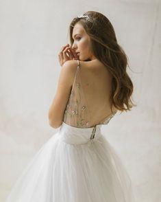 Iridescent Pastels Make This Whimsical Wedding Inspiration Pop! Wedding Dress Boutiques, Wedding Dresses, Whimsical Wedding Inspiration, Bridal Tops, Pink Bomber, Two Piece Wedding Dress, Bridal Separates, Beige Top, Custom Dresses