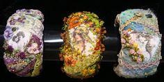 Crazy quilt bracelets Pat Winter