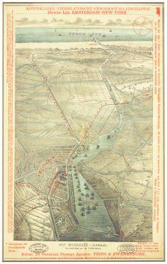 HET NOORDZEE KANAAL - Het Geheugen van Nederland Holland Map, Planning Maps, Geography Map, Amsterdam City, Old Maps, Nose Art, City Maps, Historical Maps, Netherlands