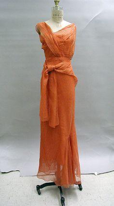 Ensemble Date: 1939 Culture: French Medium: silk