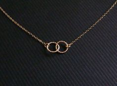 Gold Circle Necklace  Twisted Love Interlocking Rings by lisaloren, $34.00