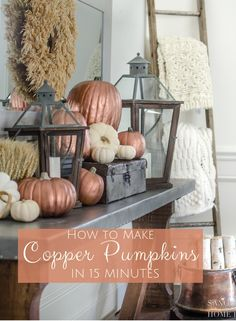 DIY Pumpkin Centerpiece with Fresh Flowers
