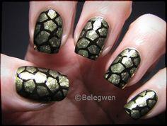 Nail Art by Belegwen: Kultakilpparit