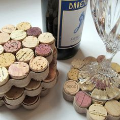 #Recycled Wine Cork Coasters