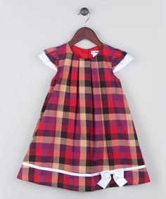 Another great find on #zulily! Red & Blue Gingham Shift Dress - Infant, Toddler & Girls #zulilyfinds