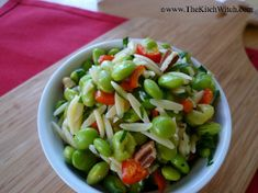 Healthy side dishes, edamame, vegetarian dishes, healthy salads