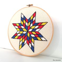 embroidery Embroidery Hoop Art, Mondrian, Quilts, Stars, Handmade, Hand Made, Quilt Sets, Quilt, Log Cabin Quilts