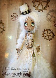 Malone Urchin Steampunk OOAK Art Doll by lilliputloft on Etsy
