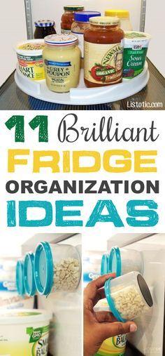 Use essas dicas inteligentes e truques para manter seu refrigerador organizado e limpo!  Alguns desses hacks DIY também irá liberar espaço e poupar alguns dólares em alimentos desperdiçados ou estragado.