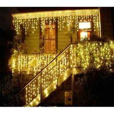 Cascata  Luz Branca Tom Amarelo 400 Lâmpadas Luz Fixa Natal - R$ 39,90