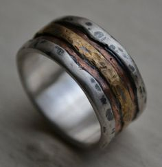 Very unique, wooden, wedding band.
