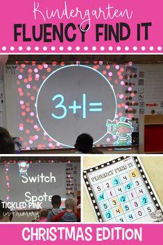 Christmas Fluency Find It (Kindergarten) Kindergarten Math Activities, Winter Activities, First Grade Math, Grade 2, Math Skills, Math Lessons, Kwanzaa, Hanukkah, Teaching Resources